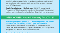 Please click the link below to see a listing ofthe upcoming Secondary school Open Houses. Secondary Open Houses and Career Education Information Evening