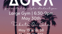 The last school dance of the year is here! The Aura Spring Dance is going to take place on May 30th from 6:30-9:00pm in the large gym. Tickets on sale […]